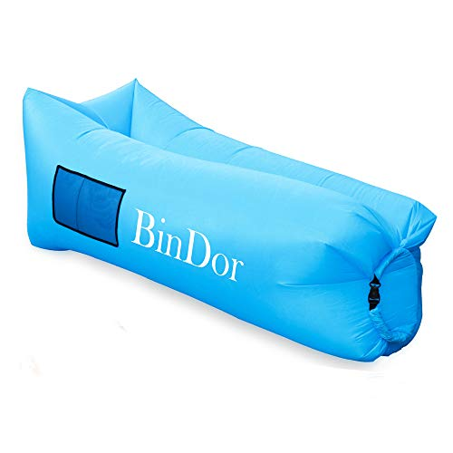 Bindor Inflatable Air Lounger Sofa Air Chair Hammock Bag Couch Lazy Bed  Waterproof Pool Float For Travelling, Camping, Hiking,Pool, Beach Parties  (Blue)