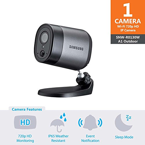 Samsung Wisenet SNW-R0130BW SmartCam A1 Outdoor Battery-Powered Home Security Camera