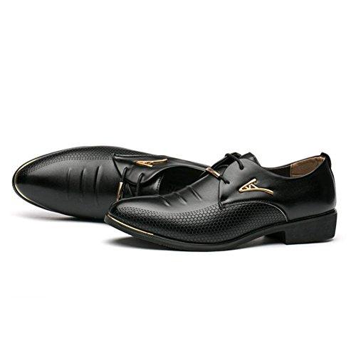 39 Zapatos Negocio Hombre con Cordones Zapatos Formal Boda Casual Negro Zapatos Cuero Juleya Vestir 48 Zapatos PU Opx7Tp