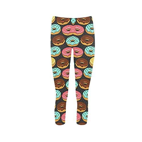 Top Donuts Pattern Polyamide Women's Leggings Capri Legging Size (XS-3xl)