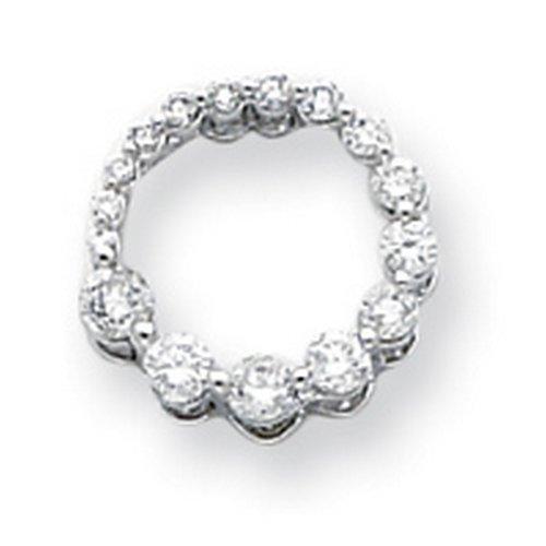 Icecarats Créatrice De Bijoux 14K Diamant Or Blanc Voyage Cercle Pendentif