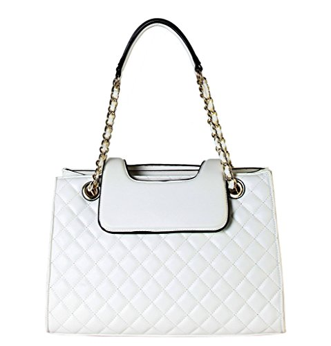 Quilted Zippered Fashion Tote - 4