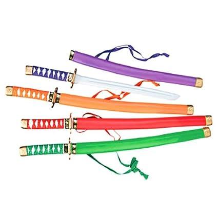 Amazon.com: Fun Express neón de plástico espadas de Samurai ...