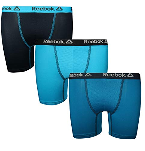 Reebok Boys 3 Pack Boys Performance Boxer Brief, Blue Solids, Small (6/7)' ()