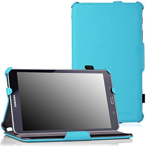 MoKo Samsung Galaxy Tab 4 8.0 Case - Slim-Fit Multi-angle Folio Cover Case for Samsung Galaxy Tab 4 8.0 Inch Tablet, Light BLUE (WILL NOT Fit Samsung Galaxy Tab 3 8.0)