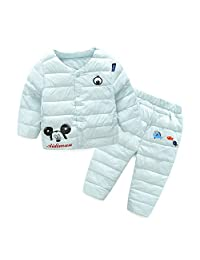 2017 New Boys Girls Clothing Cartoon Cotton Suits Warm Candy Down Cotton Jacket Sets