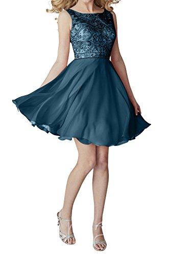 Tinte Blau mia Promkleider Cocktailkleider Partykleider Chiffon Abendkleider Kleider Mini Kurzes Brau Ballkleider Jugendweihe La pSTf7