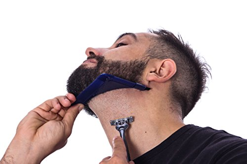 Beard Bend Plus Comb & Shaper, Trim Beard & Achieve Perfect Lines, Multipurpose Hairline Guide for Easy Grooming & Styling ~ Use for Mustaches, Sideburns, Goatees & More, Great Gift for Men
