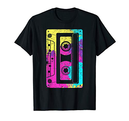 Vintage Retro Music Cassette Tapes Mixtape 80s and 90s  T-Shirt]()