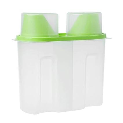SimpleLife Dispensador plástico del envase de la Caja de Almacenamiento de la Caja de Almacenamiento del