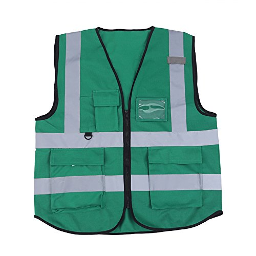 ZOJO High Visibility Safety Vests,Lightweight Mesh Fabric, Wholesale Reflective Vest for Outdoor Works, Cycling, Jogging, Walking,Sports - Fits for Men and Women (Pack of 10, Green) by zojo (Image #1)