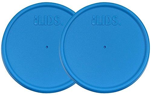 ILids Regular Mouth Mason Jar Storage Lid, Sky Blue, 2-Pack