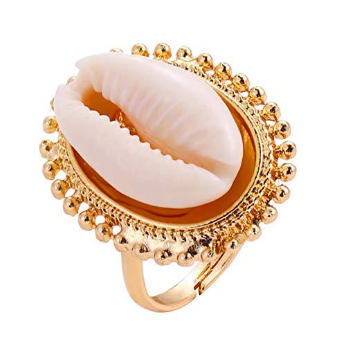 Fashion Sea Shell Earrings Seashell Rings Beach Conch Rings Nautical Women Jewelry ()