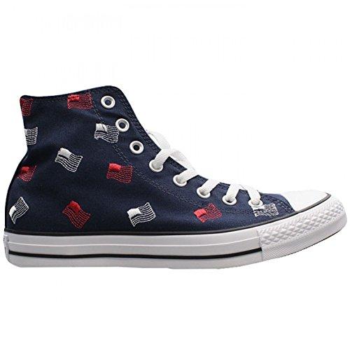 Converse Damen Herren Unisex Sneaker Chuck Taylor All Star Canvas High Top *** CTAS HI OBSIDIAN/WHI *** 153824F blau blue