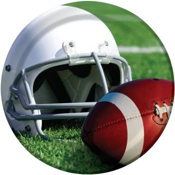 Gridiron Action Football 9-inch Paper Plates 8 Per Pack