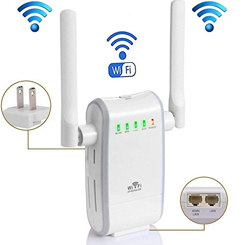 KLJ N300 WiFi Range Extender Booster Wireless Router WiFi Access Point/Router/Repeater Modes (Two Fast Ethernet Ports, Two Antennas, WPS, 2.4GHz, Support 802.11n/b/g) by KLJ