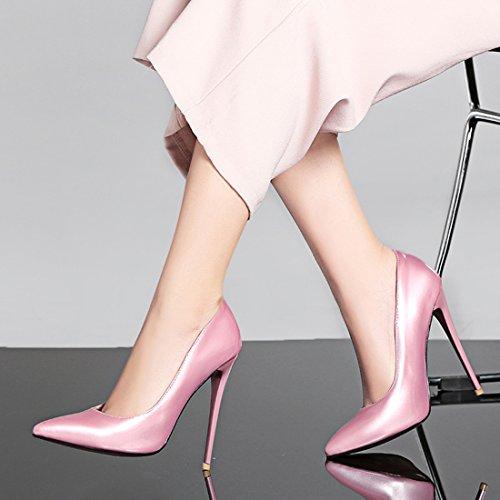 Pumps High Stiletto Frauen Lackleder YE Rose Heels Pumps qYE75nH