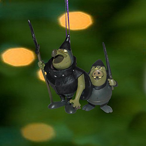 Disney Sleeping Beauty Christmas Ornament Maleficent Villain Goons Guards Pvc -