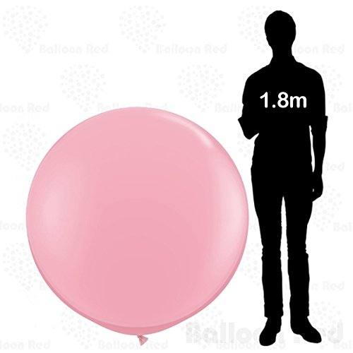 4 ft / 48 Inch Giant Jumbo Round Latex Balloons (Premium Quality), Pack of 1, Pink (Best Homemade Halloween Costumes)