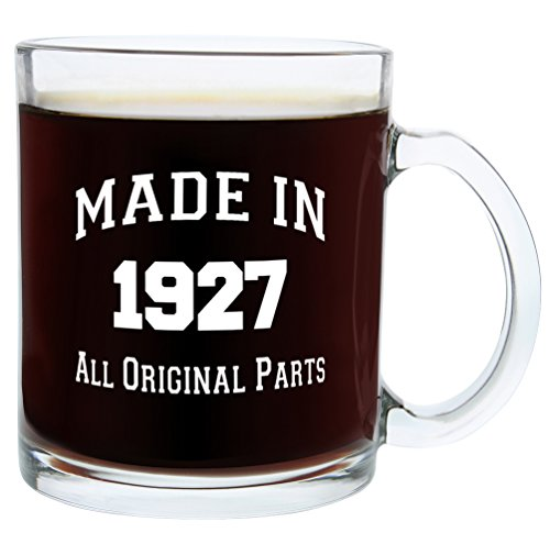 90th Birthday Gifts Made 1927 90th Birthday Party Supplies Gift Glass Coffee Mug Tea Cup White (Ideas For 90th Birthday)