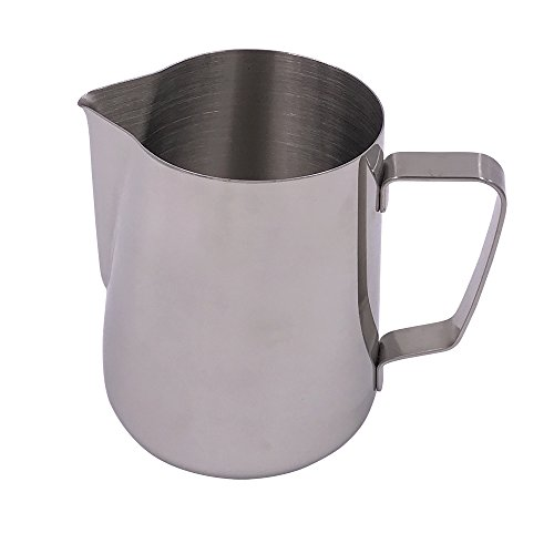 R.G Accessories Stainless Steel Milk Frothing Pitcher For Latte Art (32oz)