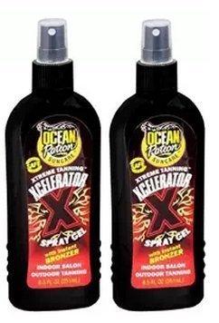 Ocean Potion Tanning Xcelerator Spray Gel, Instant Bronzer, Indoor Salon and Outdoor, 8.5 Ounces each, Pack of 2