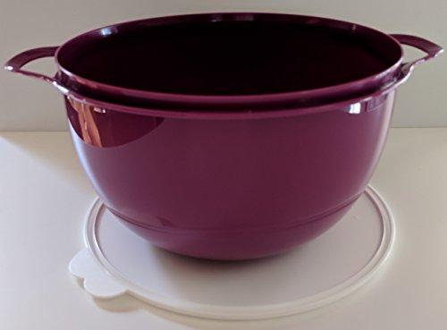Tupperware Thatsa Bowl Mega in Vineyard with Snow White Seal