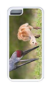 iPhone 5C Case, Personalized Custom Rubber TPU White Case for iphone 5C - Red Crowned Crane2 Cover