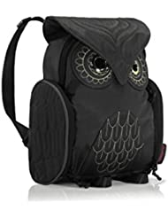 Darlings Owl Water Resistant Lightweight Backpack - Small - Black