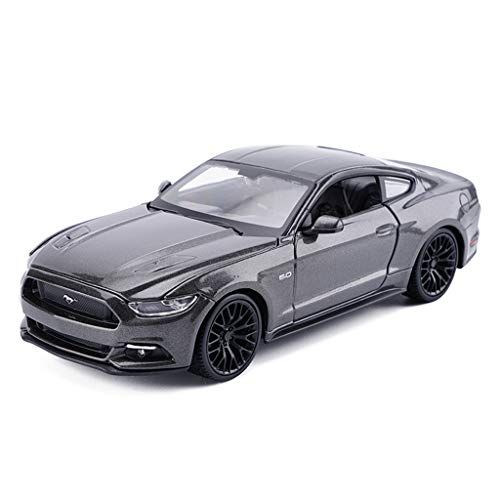 Yxsd Alloy Models Cars 1:24 Ford Mustang GT Original Style Die-Cast Collectors Model Car Decoration Crafts (Color : Gray) ()