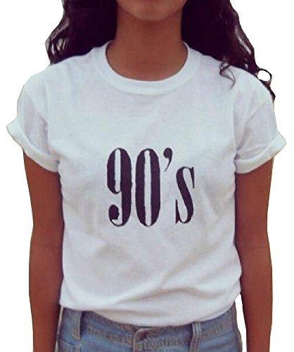 LOOKFACE Womens Cute T Shirt Junior Tops Teen Girls Graphic Tees