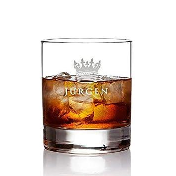 AMAVEL   Verre à Whisky Personnalisé Avec Gravure Du0027un NOM   Verre Tumbler    Motif : Couronne (Royal)   Cadeaux ...