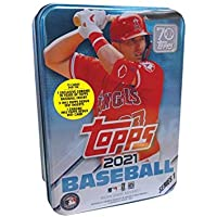 $24 » 2021 Topps Series 1 MLB Baseball Tin (75 cards/bx, Trout)