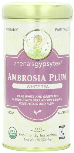 Zhena's Gypsy Tea, Ambrosia Plum, 22 Count Tea Sachet, 1.55 Oz