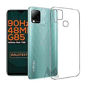 MITZVAH Silicone Transparent Soft Silicone Back Cover Clear Case for Infinix Hot 10S