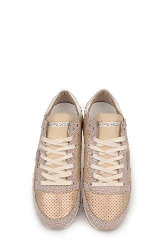 Philippe Model Sneakers Donna TRLDVP13 Pelle Beige/Bianco