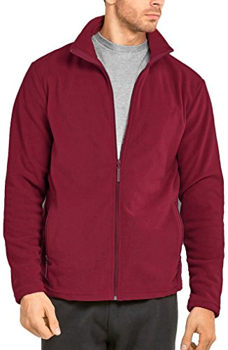 p Up Long Sleeve High Collar Polar Fleece Jacket (2XL, Burgundy) (Long Sleeve Polar Fleece Top)
