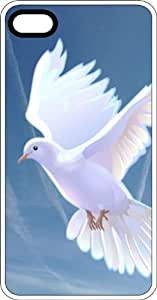 White Dove Of Peace Clear Rubber Case for Apple iPhone 5 or iPhone 5s