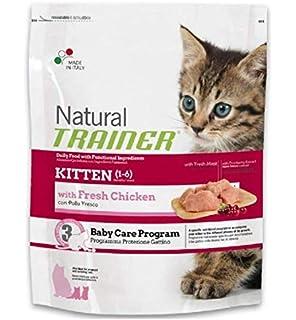 Trainer 2 Sacchi da 300 gr Natural Kitten per Gattini crocchette Pollo Piu Omaggio 1 scatoletta Kitten almo Nature hfc