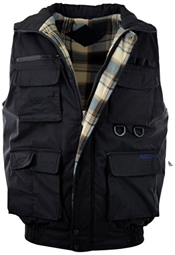 - ChoiceApparel Mens Basic Padded Windbreaker Puffer Vests (Many Styles to Choose from) (L, 1322-BLACK)