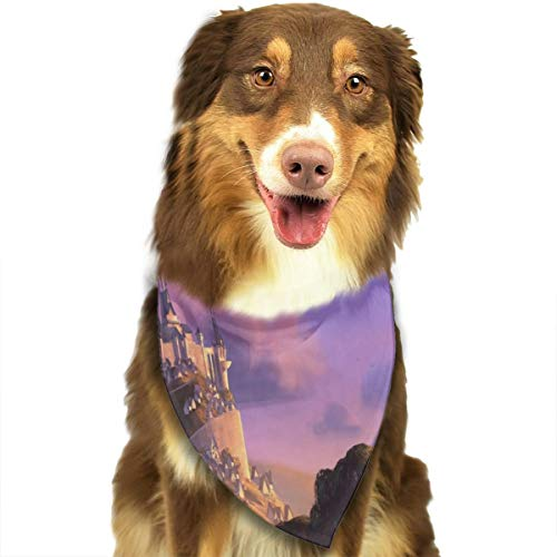 Pet Scarf Dog Bandana Bibs Triangle Head Scarfs Romantic Castle Accessories for Cats Baby Puppy ()