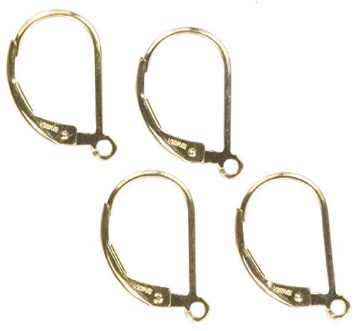 Fill Earrings Gold Leverback - 14K Gold Filled Plain Leverback 2-Pairs