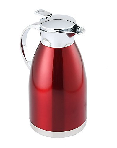 HUSKEY 2 Liter Red Premium Stainless Steel Thermo Coffee Server DXS DESIGN