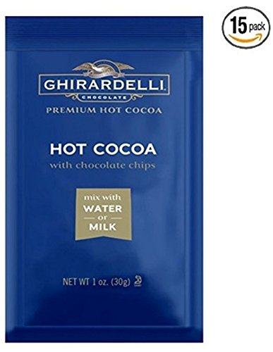 Ghirardelli Hot Cocoa Mix with Chocolate Chips, 1 oz Packet (Case of 15)