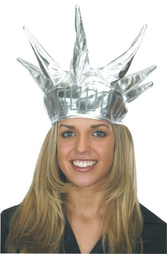 Jacobson Hat Company Women's Statue Of Liberty Crown, Silver, One Size