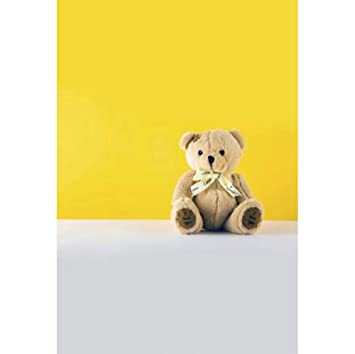 OERJU 1x1,5m Fotografía Fondo Papel Pintado Amarillo Suelo Gris ...