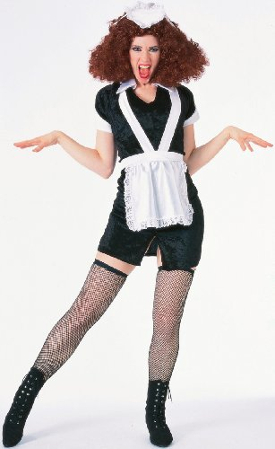 Forum The Rocky Horror Picture Show Magenta Complete Costume, Black/ White, Standard (Halloween Costumes From Tv Shows And Movies)