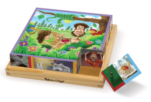 Gods Eye Craft (Melissa & Doug Old Testament Bible Stories Wooden Cube Puzzle - 6 Puzzles in 1 (16 pcs))
