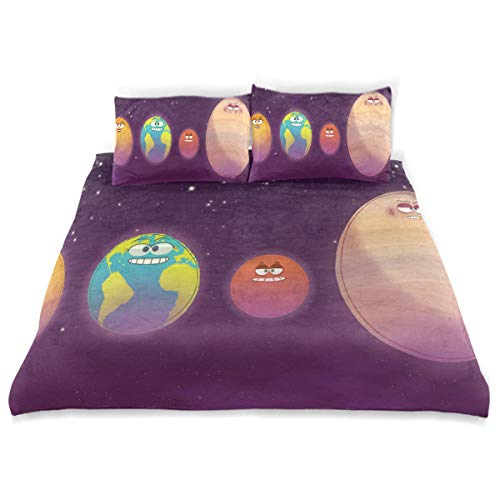 - Bedding Duvet Cover Set 3 Pieces Outer Planets of The Solar System Bed Sheets Sets and 2 Pillowcase for Teens