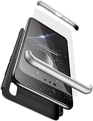 BESTCASESKIN Funda Xiaomi Redmi Note 5 Pro, Carcasa Móvil de Protección de 360° 3 en 1 Desmontable con HD Protector de Pantalla Carcasa Caso Case ...